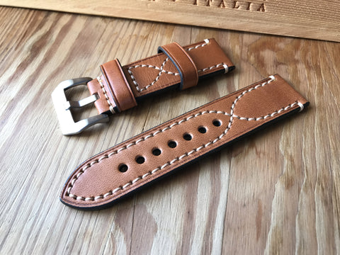 Cheap quality Panerai cross stitch vintage strap-free shipping - StrapMeister