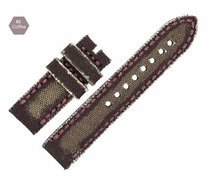 Cheap Denim and Italy Genuine Leather Watch Strap in 24mm StrapMeister $39.99