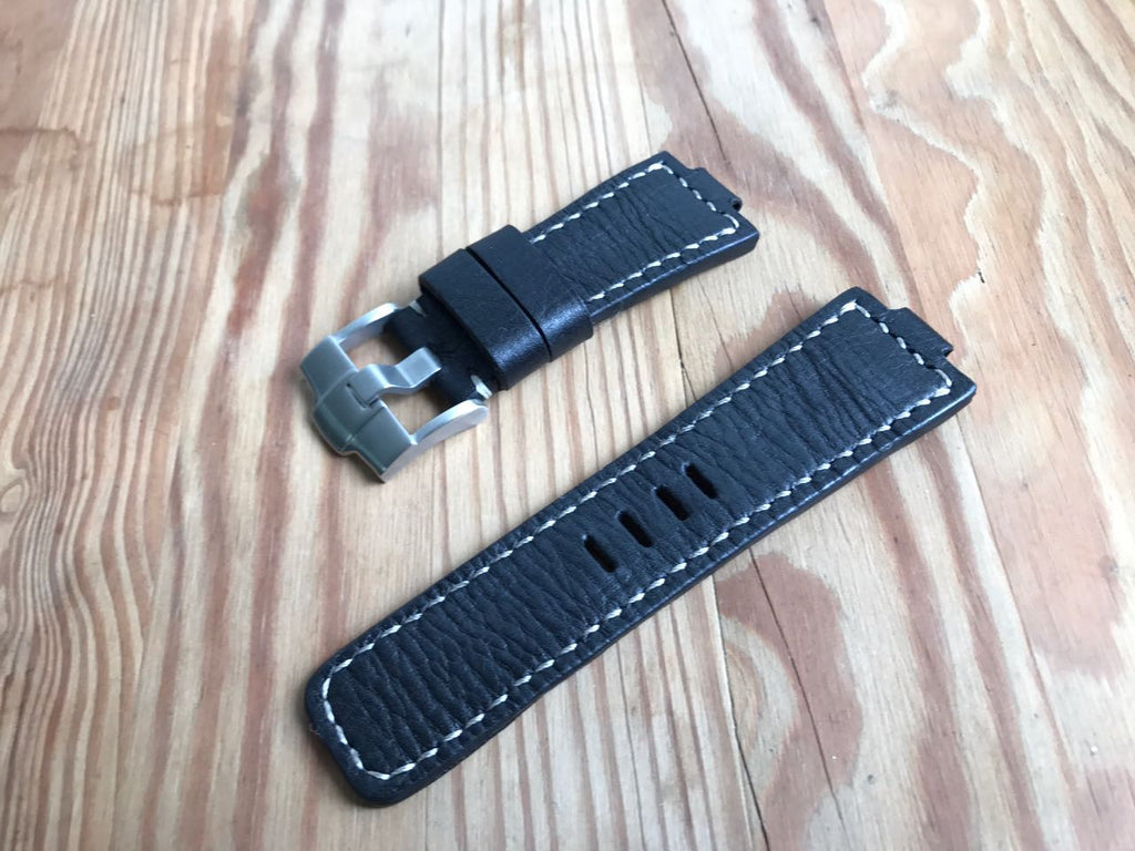 Custom Made Oris leather strap-free shipping by strapmeister - StrapMeister