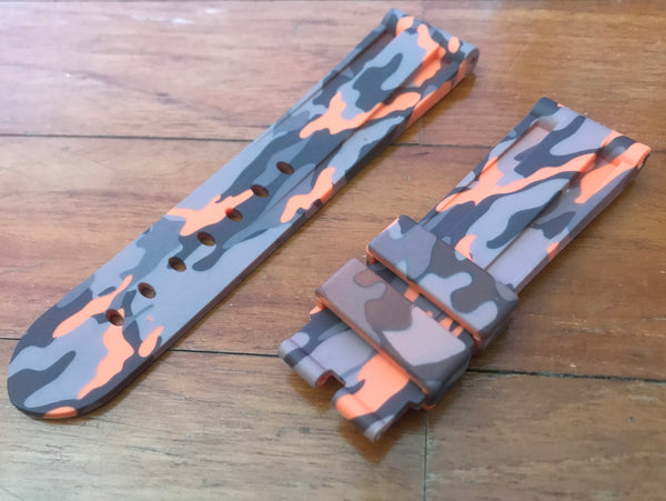 24mm Wetlands Camo rubber strap - StrapMeister