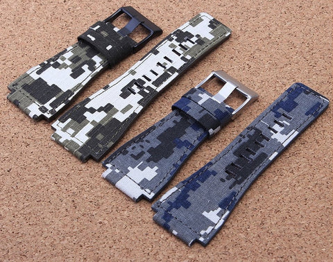 Camouflage Bell&Ross nylon straps 34*24mm (lugs) StrapMeister $28.99