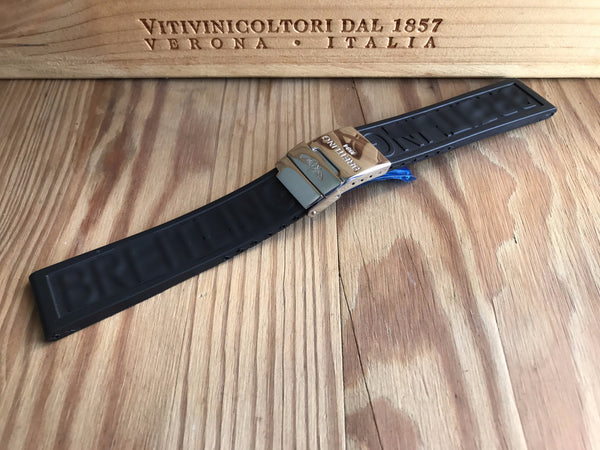 Best Cheap Breitling Black rubber strap - StrapMeister