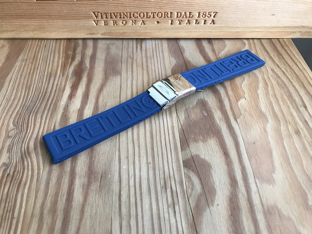 Breitling blue rubber strap - StrapMeister