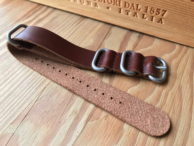 G10 Genuine Leather Zulu strap - StrapMeister
