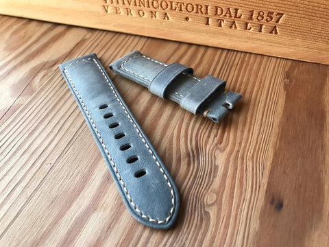 Panerai style Grey Assolutamente strap-free shipping StrapMeister $29.99