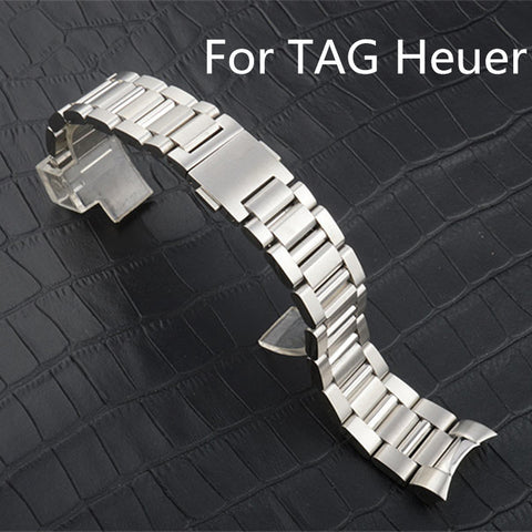 22mm Full stainless steel bracelet for Tag Heuer - StrapMeister