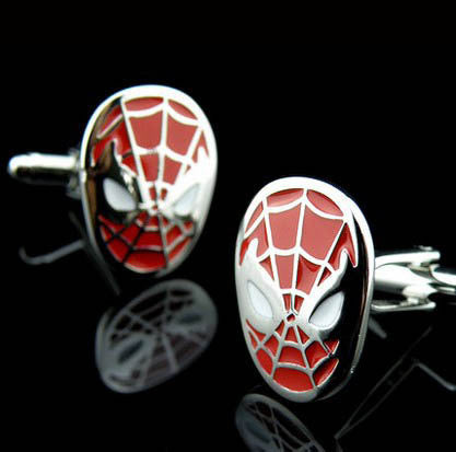 Marvel Spiderman & symbiote cufflinks - StrapMeister