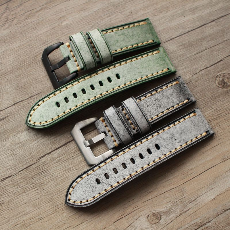 Vintage Style leather strap - StrapMeister