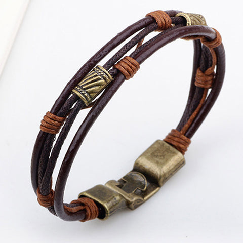 Leather tribal bracelet StrapMeister $9.99