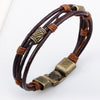 Leather tribal bracelet - StrapMeister