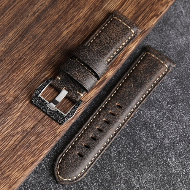 Pam style Cracked vintage leather strap - StrapMeister