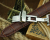 Crocodile Grained calf leather strap with butterfly clasp - StrapMeister