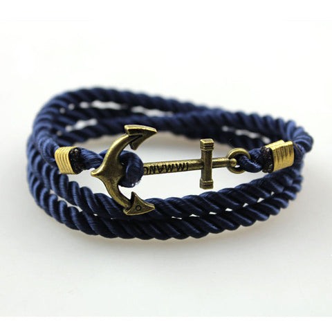 Anchor with rope Bracelets - StrapMeister