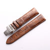 Quality Genuine Leather Strap with deployment clasp-free shipping StrapMeister $57.99