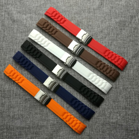 Cheap & quality rubber strap suitable for Rolex & Sinn watches.
