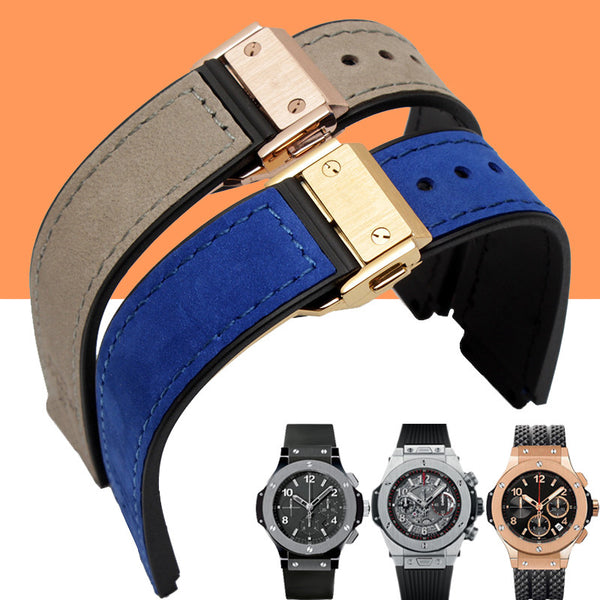 Hublot watch strap 21mm & center nudge 15mm lug width StrapMeister $33.99