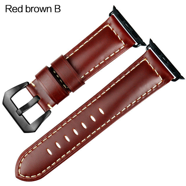 Apple watch Vintage style leather strap(limited numbers) - StrapMeister
