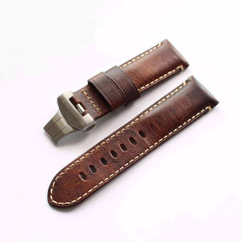 Vintage Italian calf leather strap for Panerai-free shipping - StrapMeister