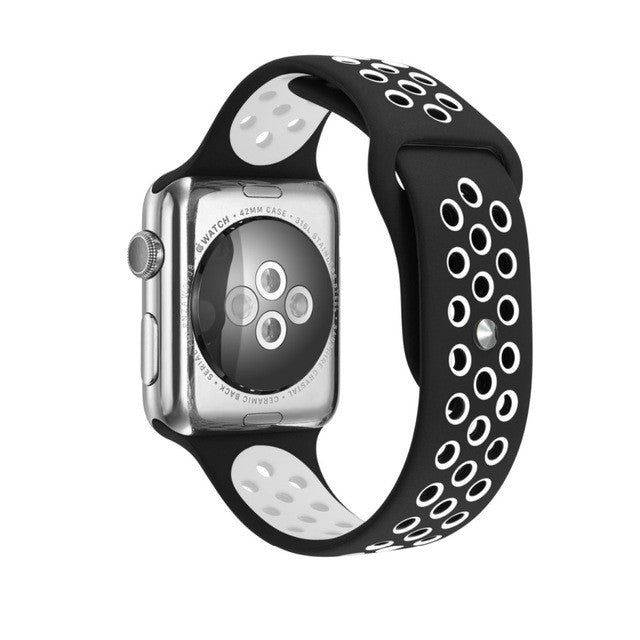 38/42mm Silicon Rubber Strap for Apple Watch - StrapMeister