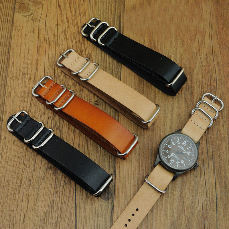Leather Zulu strap - StrapMeister