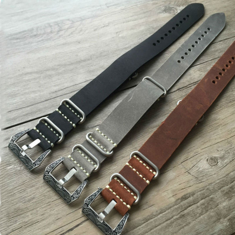 Best quality Vintage Leather NATO Watch Strap-Strapmeister StrapMeister $39.99