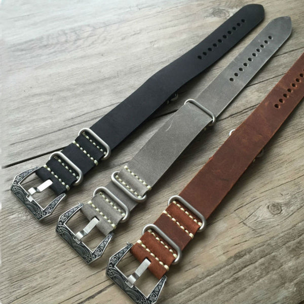 Best quality Vintage Leather NATO Watch Strap-Strapmeister StrapMeister $36.99
