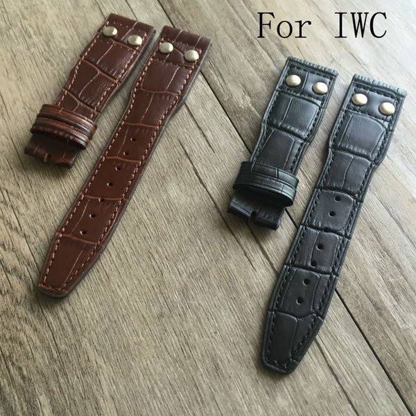 22mm Leather Watch Strap for IWC - StrapMeister