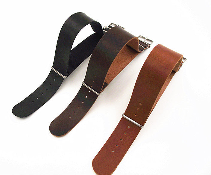 Synthetic leather nato straps - StrapMeister