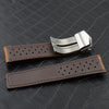 Vintage suede leather strap for Tag Heuer - StrapMeister
