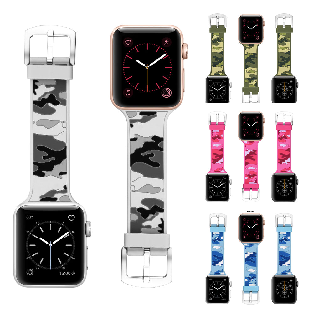 Apple watch camo rubber strap - StrapMeister