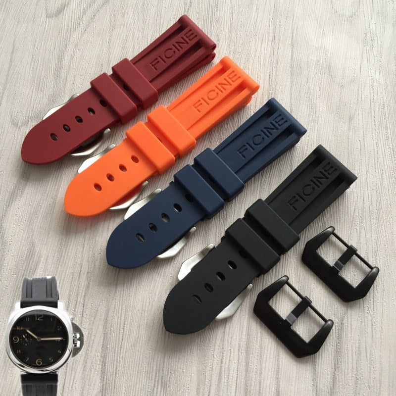 24mm/22mm replacment Rubber Strap For PAM Free Shiping StrapMeister $30.99