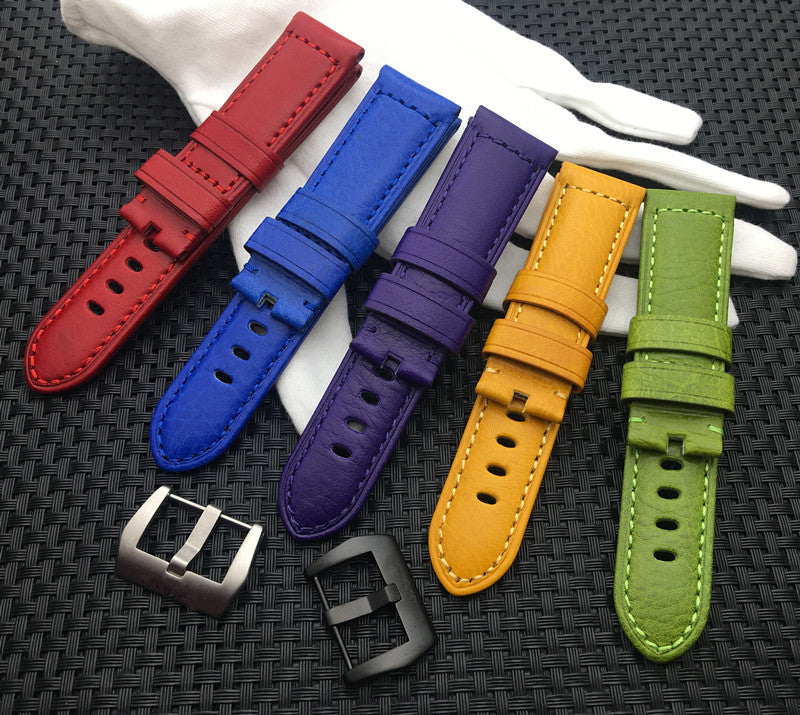 24mm fashion coloured strap for Panerai StrapMeister $38.99