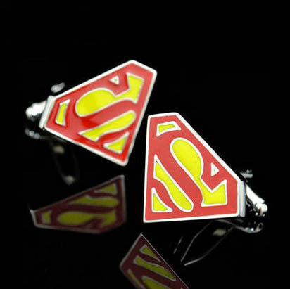 DC superman cufflinks - StrapMeister