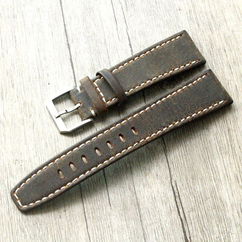 22MM Dark Brown Retro Strap For IWC StrapMeister $42.99