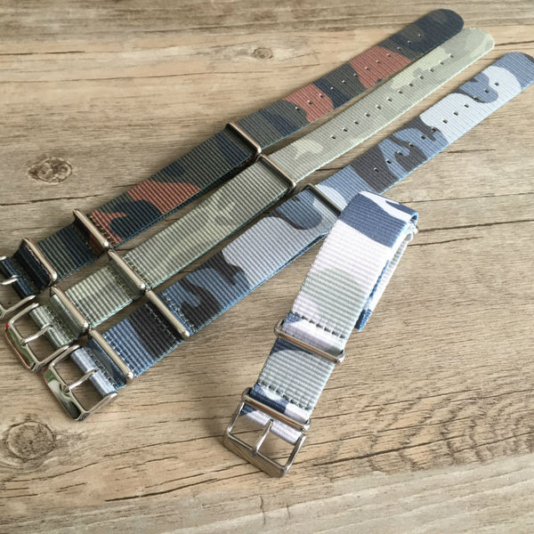 Cheap Best Camouflage NATO Strap 20mm & 22mm-free shipping - StrapMeister