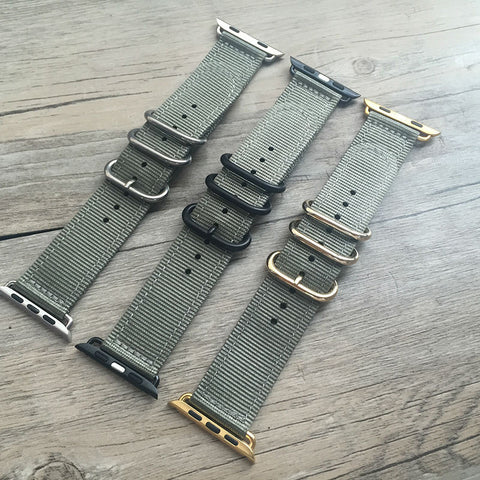 Grey 42MM / 38MM Apple Watch strap StrapMeister $36.99