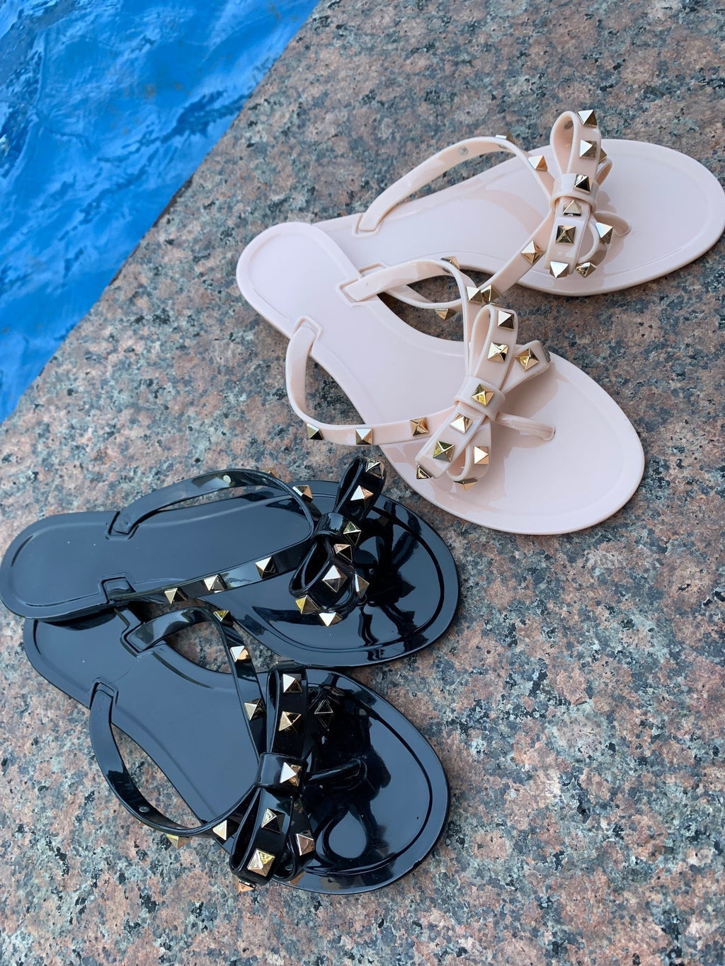 Rockstud Jelly Sandals
