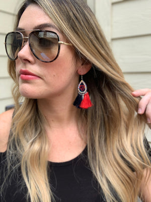 Texans Fringe Earrings