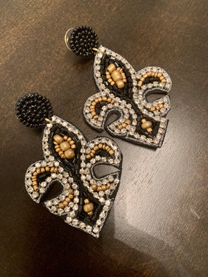 Nola Saints / Mardi Gras Earrings