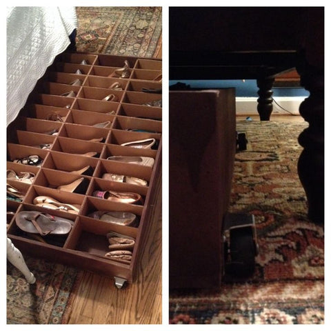shoe storage ideas underbed storage