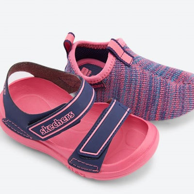 SKECHERS Flex Play 3-in-1 Navy & Pink Sandals