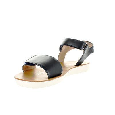 SUREFIT Avery Navy Leather Sandals