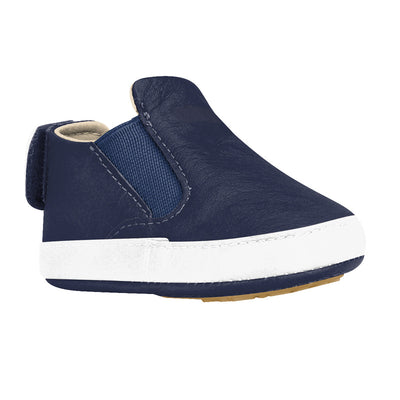 BIBI Afeto Navy Leather Baby Shoes