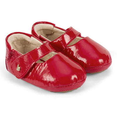BIBI Afeto Red Leather Baby Shoes