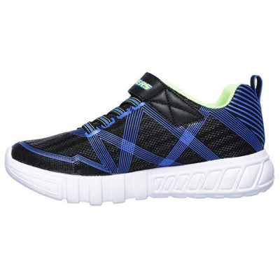 SKECHERS S-Lights Flex-Glow Kids Black Blue Lime