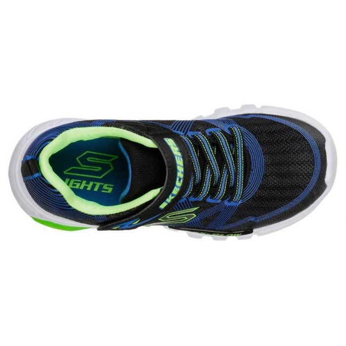 Glow Lights Skechers S Black Blue Toddler Flex Lime 8yvmnNw0OP