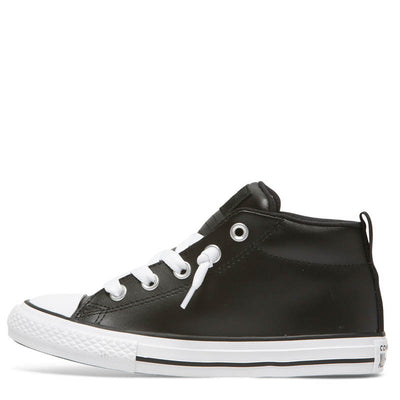 CONVERSE Street Mid Black Leather Kids CTAS
