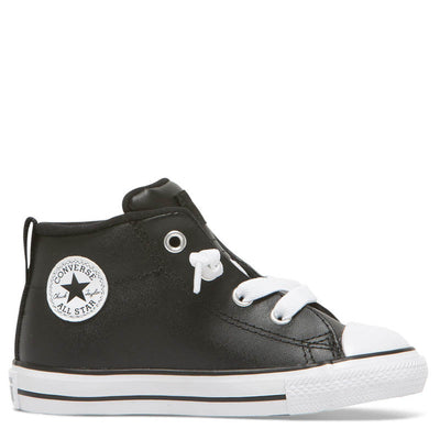 CONVERSE Street Mid Black Leather Toddler CTAS LAST PAIR