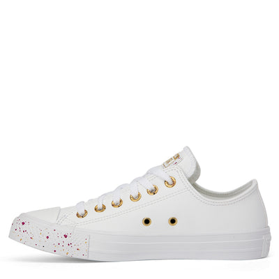 CONVERSE Womens Low White Speckled CTAS LAST PAIR