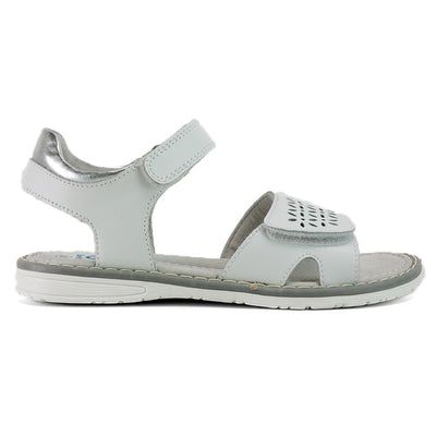 SUREFIT Flick White Girls Sandals